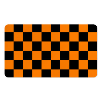 Checkered - Black and Orange Business Cards