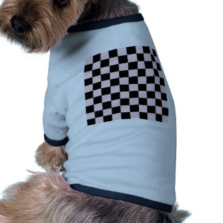 Checkered - Black and Pale Pink Doggie T Shirt