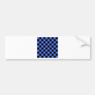 Checkered - Black and Royal Blue Bumper Sticker