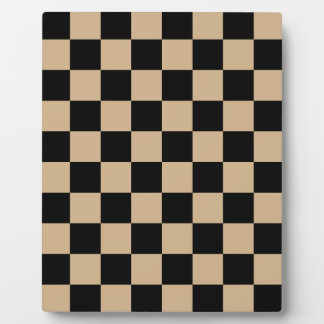 Checkered - Black and Tan Plaque