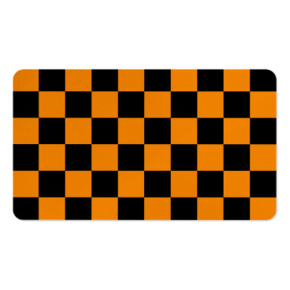 Checkered - Black and Tangerine Business Card