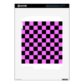 Checkered - Black and Ultra Pink iPad 3 Skin