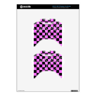 Checkered - Black and Ultra Pink Xbox 360 Controller Decal