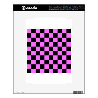 Checkered - Black and Ultra Pink Decals For NOOK