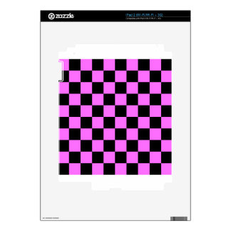 Checkered - Black and Ultra Pink Skin For The iPad 2