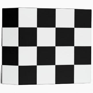 Checkered Black and White 3 Ring Binder