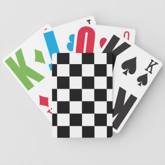 Checkered Black and White Bicycle Playing Cards