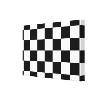 Checkered Black and White Gallery Wrap Canvas