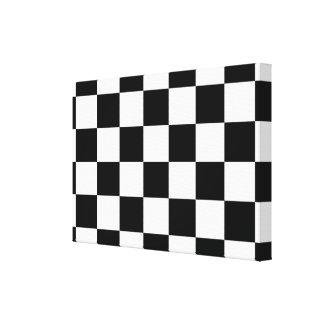 Checkered Black and White Canvas Print
