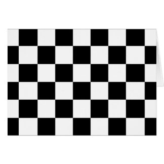 Checkered Black and White Card