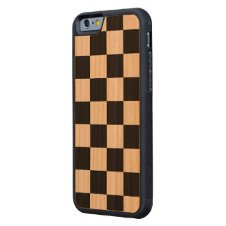 Checkered Black and White Carved® Cherry iPhone 6 Bumper Case