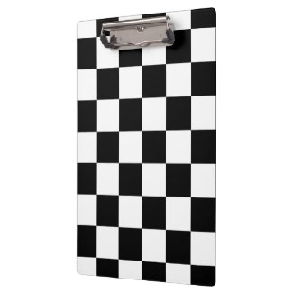 Checkered Black and White Clipboard
