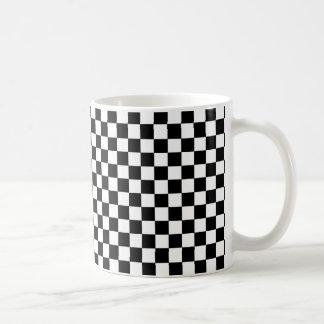 Checkered Black and White Coffee Mug