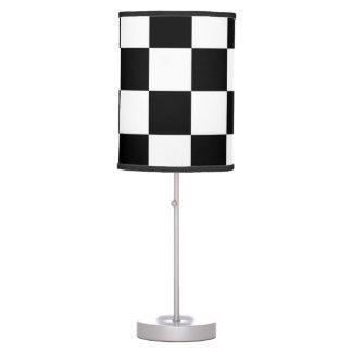 Checkered Black and White Desk Lamp
