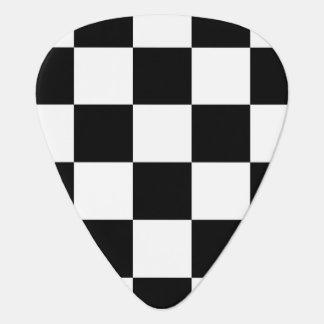 Checkered Black and White Guitar Pick