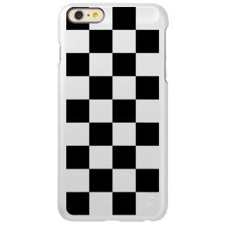 Checkered Black and White Incipio Feather® Shine iPhone 6 Plus Case