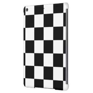 Checkered Black and White iPad Air Case