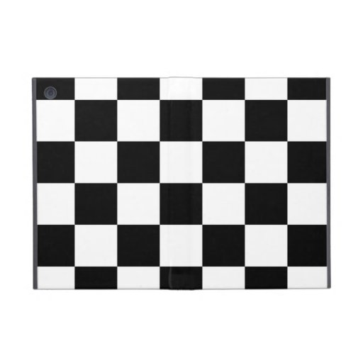 Checkered Black and White Cover For iPad Mini