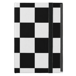 Checkered Black and White iPad Mini Case