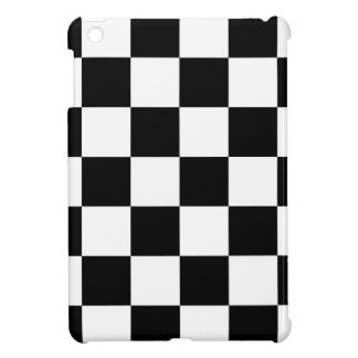 Checkered Black and White iPad Mini Cover