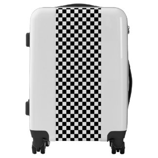Checkered Black and White Luggage