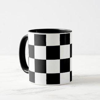 Checkered Black and White Mug