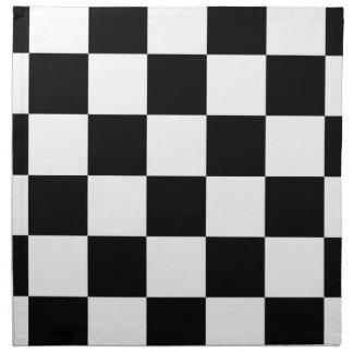 Checkered Black and White Napkin