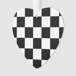 Checkered Black and White Ornament
