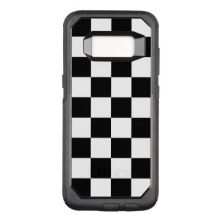 Checkered Black and White Pattern OtterBox Commuter Samsung Galaxy S8 Case