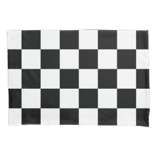 Checkered Black and White Pattern Pillow Case
