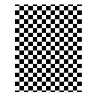 Checkered Black and White Pattern Postcards