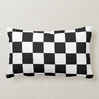 Checkered Black and White Pillow