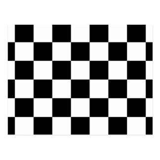Checkered Black and White Postcard