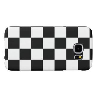Checkered Black and White Samsung Galaxy S6 Case