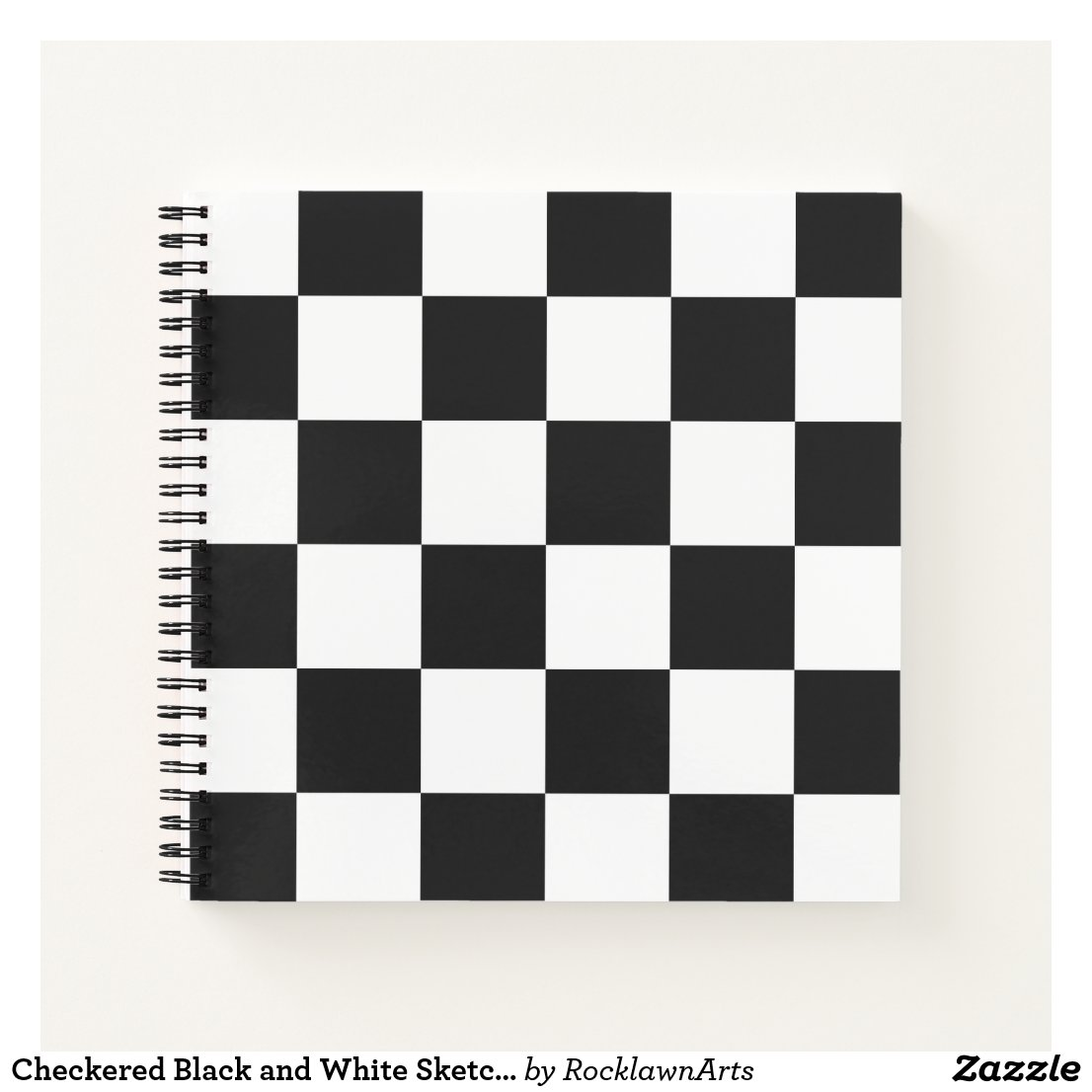 Checkered Black and White Sketchbook Notebook