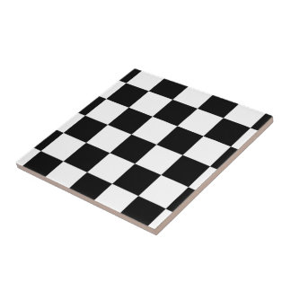 Checkered Black and White Tile