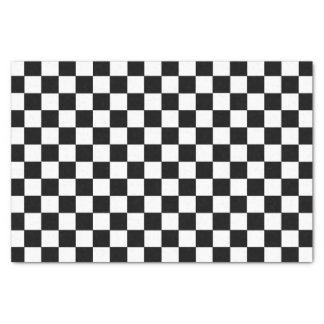 Checkered Black and White Tissue Paper