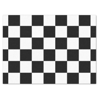 """Checkered Black and White Tissue Paper 17"""" X 23"""" Tissue Paper"""
