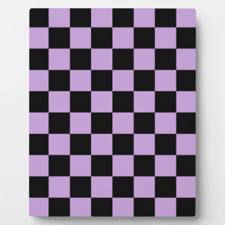 Checkered - Black and Wisteria Plaque