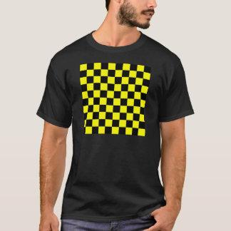 Checkered - Black and Yellow T-Shirt
