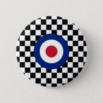 Checkered Black Racing Target Mod Button