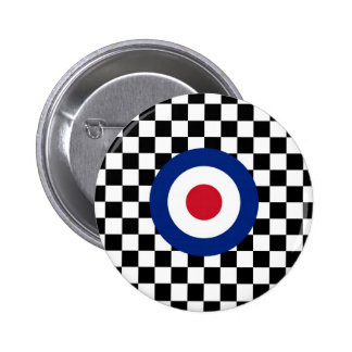 Checkered Black Racing Target Mod Button