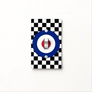 Checkered Black Racing Target Mod Light Switch Cover