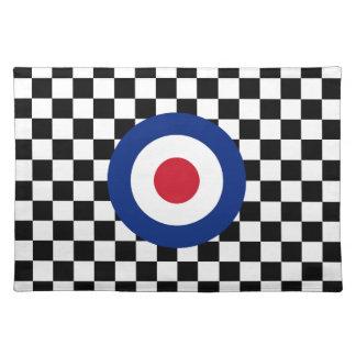 Checkered Black Racing Target Mod Placemat