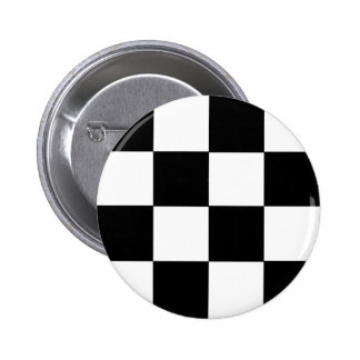 Checkered Black & White Button