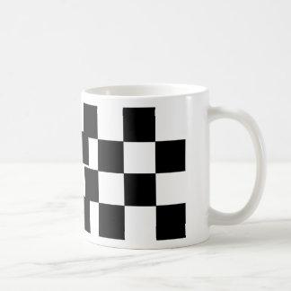 Checkered Black & White Coffee Mug