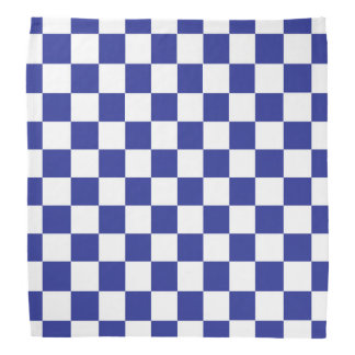 Checkered Blue and White Bandana