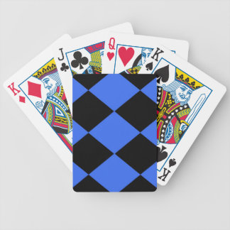 Checkered (Blue & Black) Bicycle Playing Cards