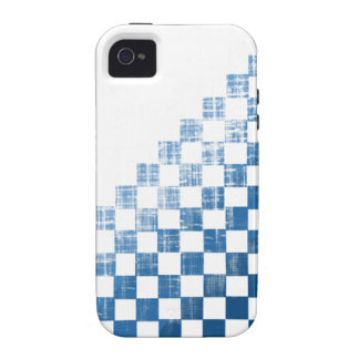 Checkered Blue iPhone 4 Case