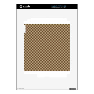 Checkered - Brown 2 - Khaki and Dark Brown Decal For iPad 2